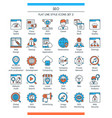 seo icons set 2 vector image