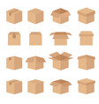 set abstract box line icons vector image vector image