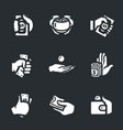 set of bribe icons vector image vector image