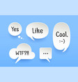set of paper bubble cloud talk with shadow vector image vector image