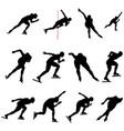 set speed skating skater vector image vector image