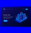 smart city isometric concept vector image
