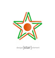 star with flag of Niger colors and symbols design vector image vector image