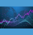 stock market graph or forex trading chart for vector image