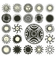 sun symbols collection vector image vector image