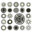 sun symbols collection vector image
