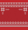 ugly sweater handmade knitted vector image