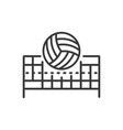 volleyball - modern line design single icon vector image vector image