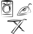 washing appliances set vector image