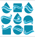 water shapes vector image