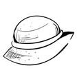 woman hat drawing on white background vector image vector image