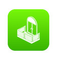 wood balcony icon green vector image vector image