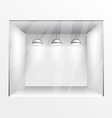 Glass shop gallery with lights vector image