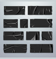 adhesive or masking tape set black rubber vector image