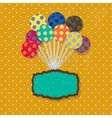 Birthday card with cute colorful balloons and vector image