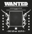 wanted poster design with western elements vector image