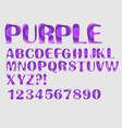 alphabet purple mosaic texture design uppercase vector image