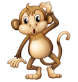 A tired monkey vector image