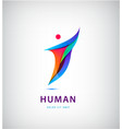abstract man silhouette logo human vector image vector image