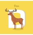 Animal Alphabet Concept in Flat Design vector image vector image