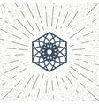 Asian hexagon symbol vector image vector image