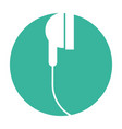 audio earphones isolated icon vector image vector image
