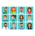 Avatar woman man heads People shape heads vector image vector image