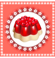 background with fruit jelly dessert vector image vector image