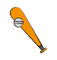baseball bat and ball icon vector image vector image