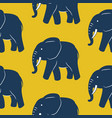 blue elephant seamless pattern yellow vector image vector image