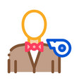 boxing referee icon outline vector image vector image