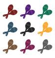 brazilian maracas icon in black style isolated on vector image vector image