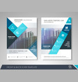 business brochure design template vector image vector image