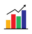 business market chart graphic vector image