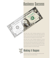Business Success ad with a dollar bill vector image