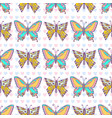 butterflies pattern hand drawn seamless print can vector image vector image