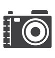 camera solid icon photo and capture vector image vector image