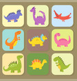 cartoon dinosaurs monster vector image vector image