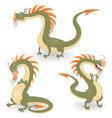 cartoon dragons vector image vector image