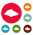 cloudiness icons circle set vector image vector image