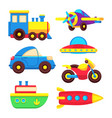 colorful batoy transport set vector image