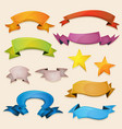 comic banners and ribbons for ui game vector image vector image
