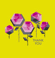 concept polygon rose flower vector image vector image
