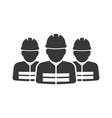 construction workers group icon images vector image vector image