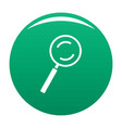 cursor magnifier element icon green vector image