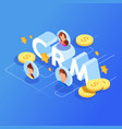 customer relationship management crm concept vector image vector image