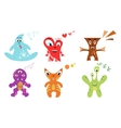Cute colorful monster set vector image vector image