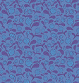 dark blue blueberry seamless pattern vector image