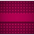 Dark red background with hearts vector image vector image