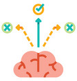 decision making flat vector image vector image